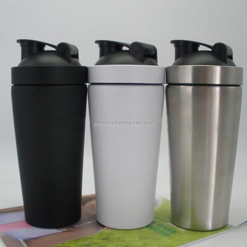 stainless steel custom logo shaker bottle