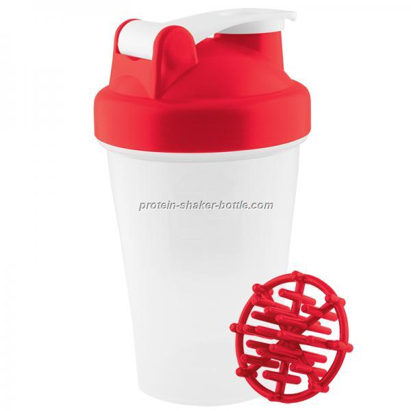 protein shaker bottle with shaker ball