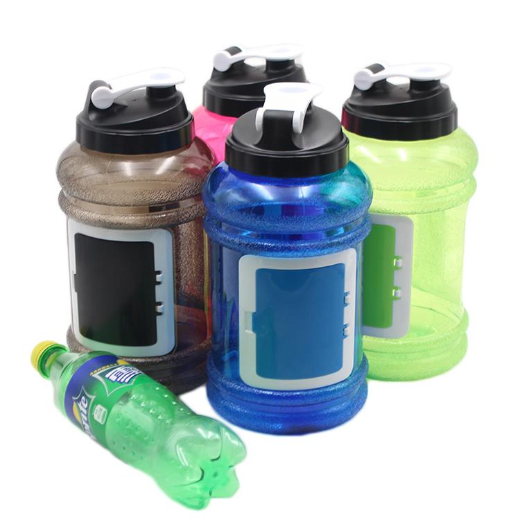 2017 popular Dumbbell shape Wholesale 2.2L PETG Material GYM fitness water bottle plastice jug