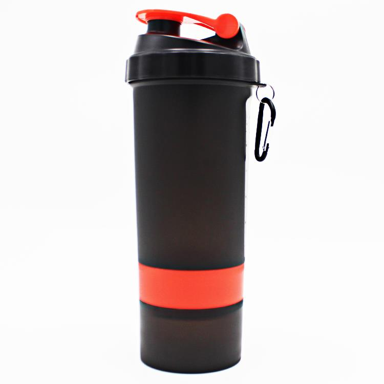 600ML High quality Nutrition Shaker Bottle with Storage Compartment