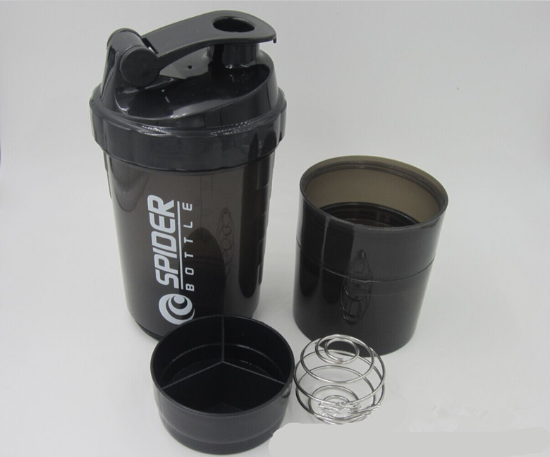 Promotion Gift 500ml Empty Spider Bottle Protein Plastic Water Bottle protein shaker