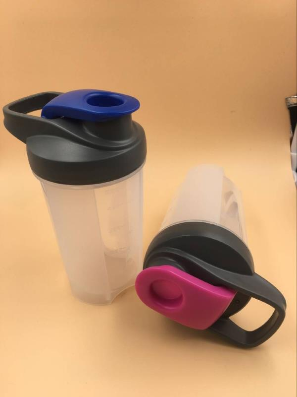 500ml BPA free plastic gym protein shaker shaker bottle