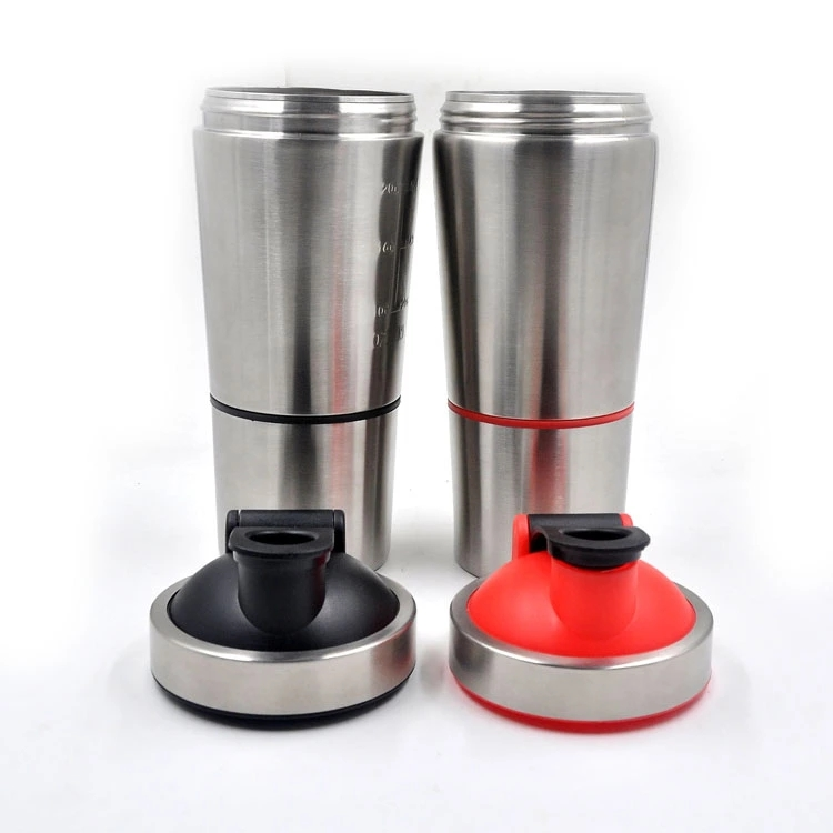 Stainless steel Gym protein shaker bottle