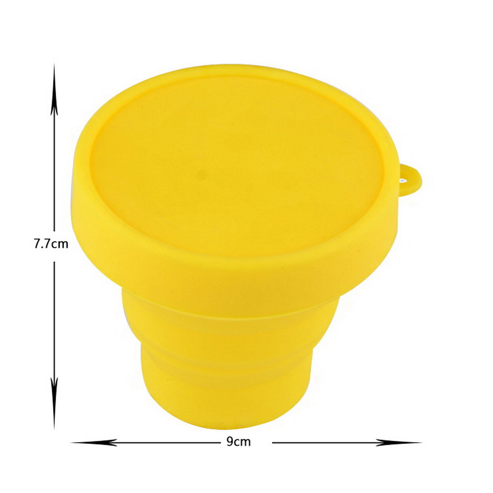 Portable Retractable Folding Silicone Drinking Cup Retractable Cup