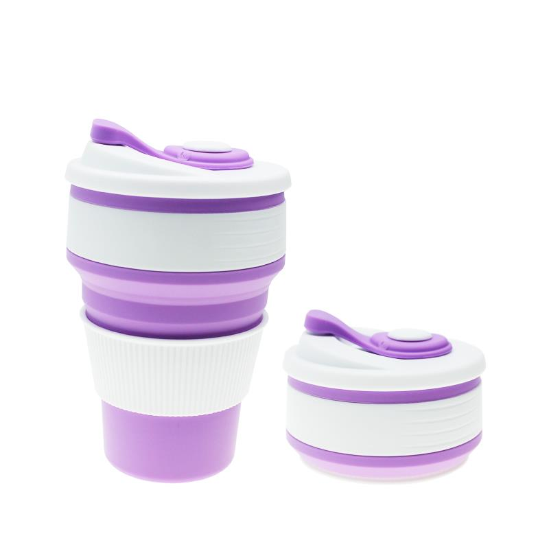 Wholesale Food Grade Silicone Collapsible Coffee Cup