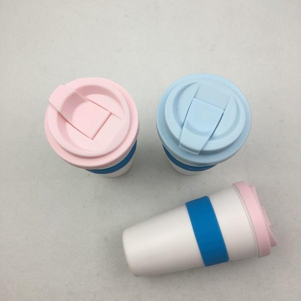 Customized PP Coffee Plastic Cup with Lid