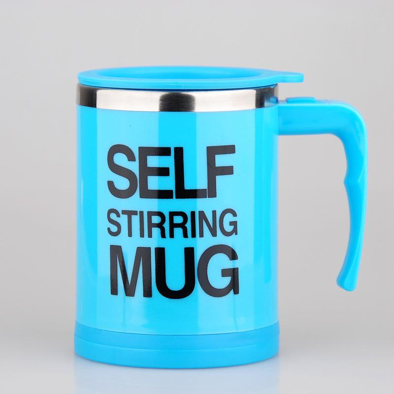stirring mug auto mixing cups 16oz double wall stainless steel coffee mug