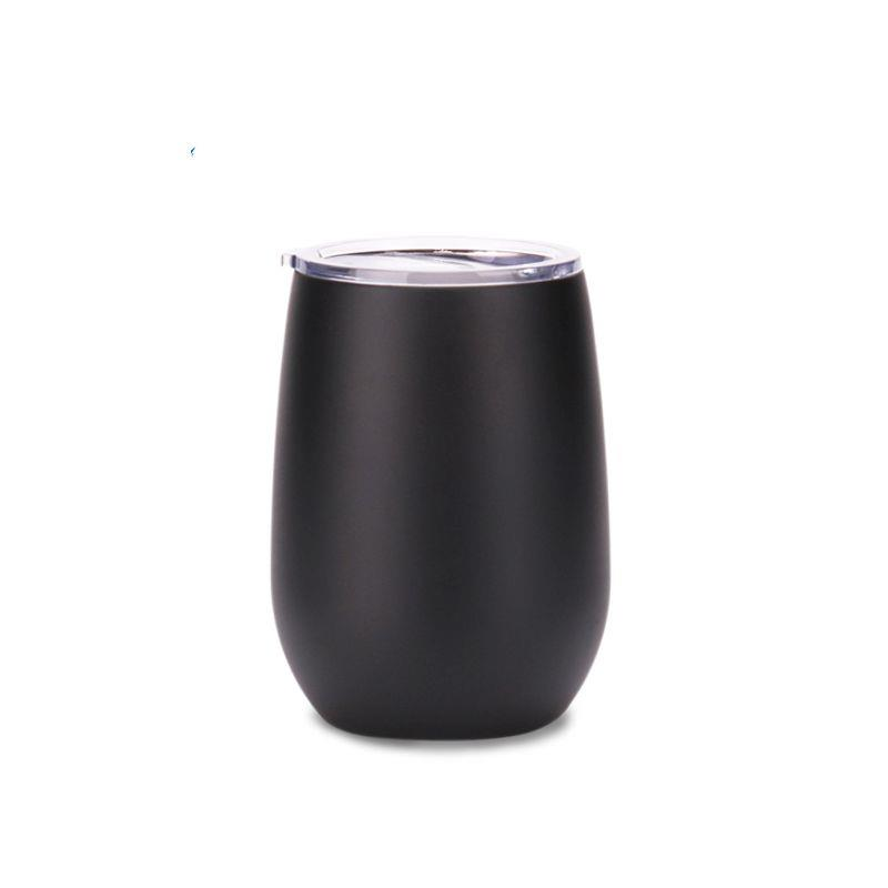 Factory direct double stainless steel wine glasses tumbler with lid ,powder coated travel tumbler cup for coffee