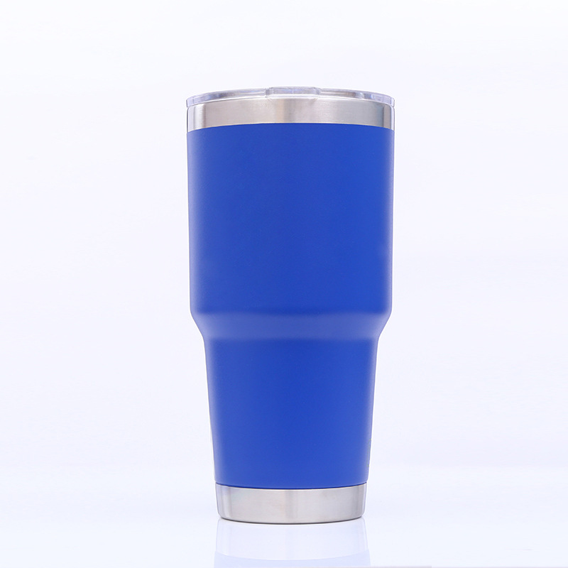 Stainless Steel 30 oz. Travel Beverage Tumbler Coffee Thermos Mug Cup