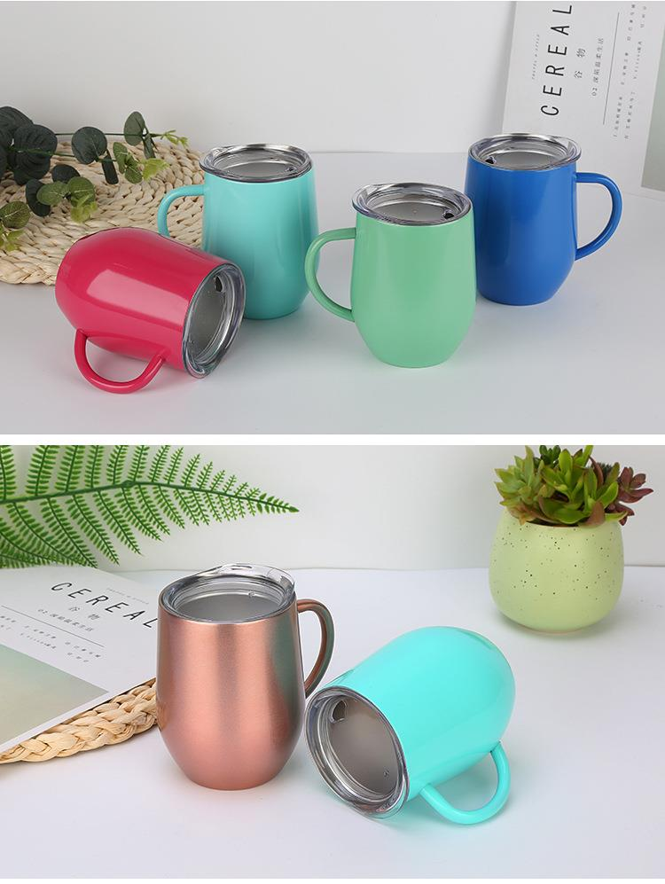 Double Wall Stainless Steel Ice Beer Coffee Cup With Lid