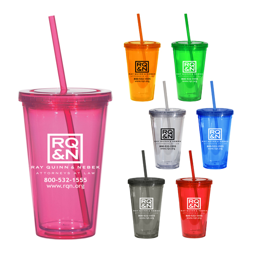plastic tumbler cup with straw and lid
