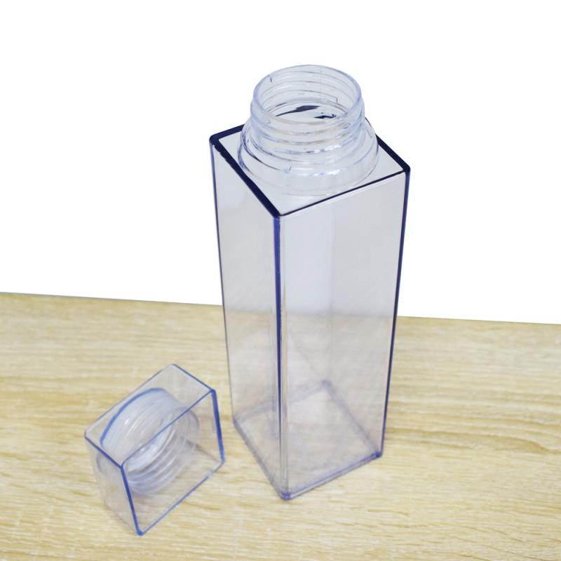 plastic 600ml food cup,transparent square water bottle