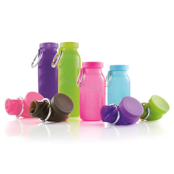 Collapsible Silicone Water Bottle & Silicone Foldable Water Bottle
