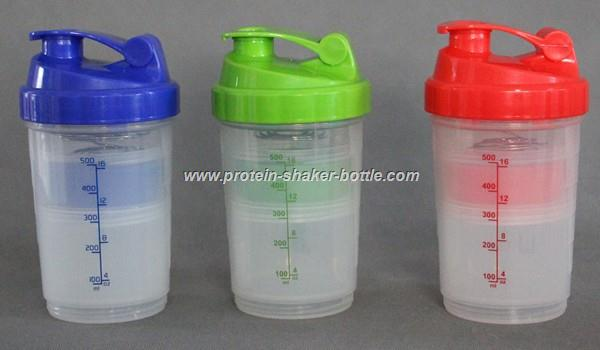 Protein Shaker Bottle with pill box Blender Bottle spider bottle