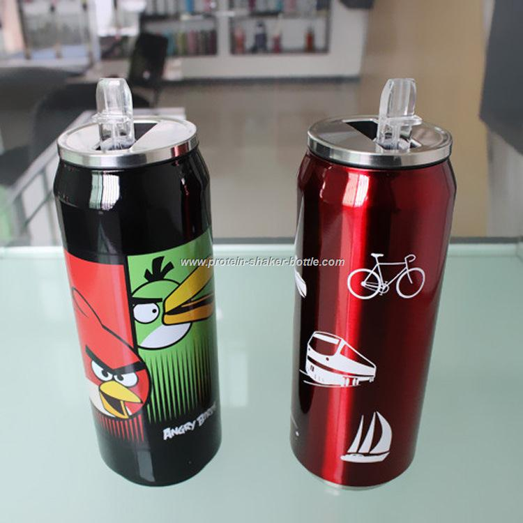 304 Stainless Steel Fancy Coke Cans Coffee Cups with Lock Cover