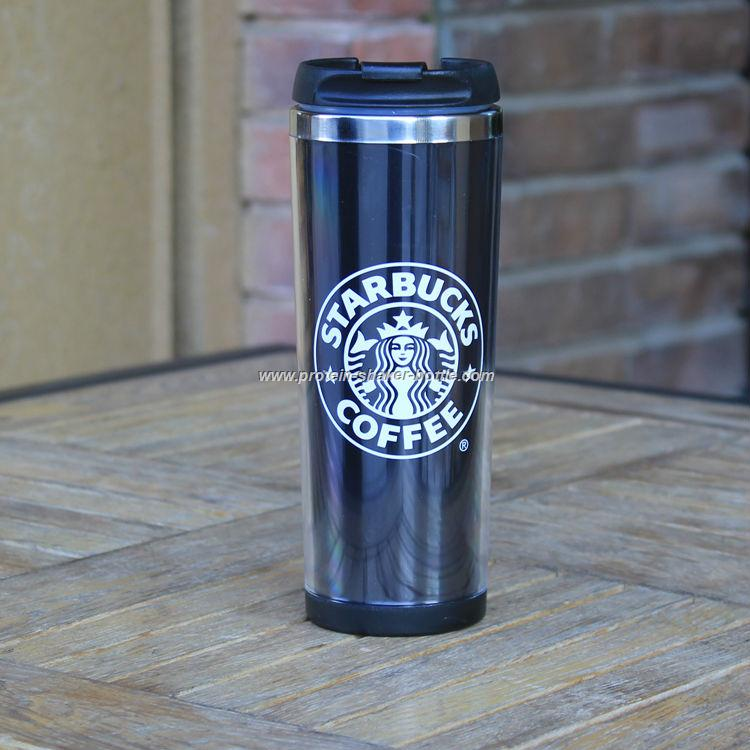supplier double wall starbucks travel mugs with insert paper