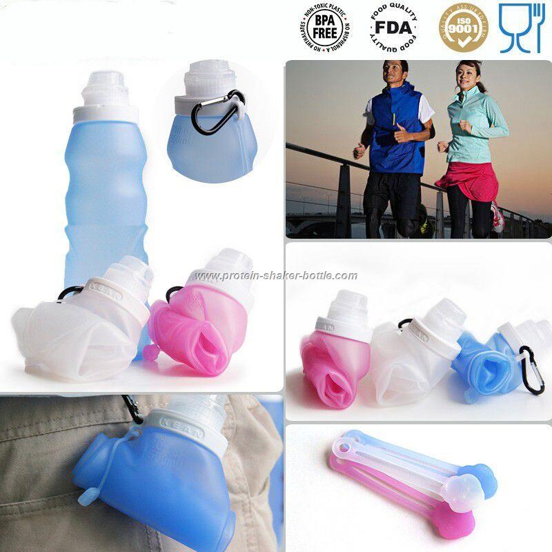 sports foldable water bottles