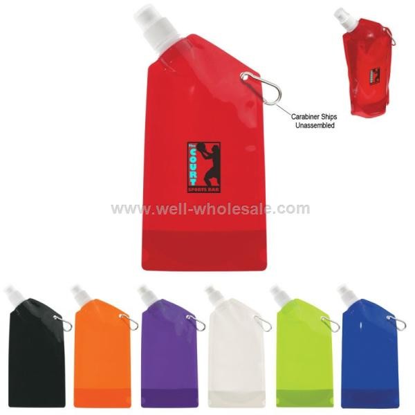 BPA free collapsible water bottles Sports plastic foldable water bottle for logo printing