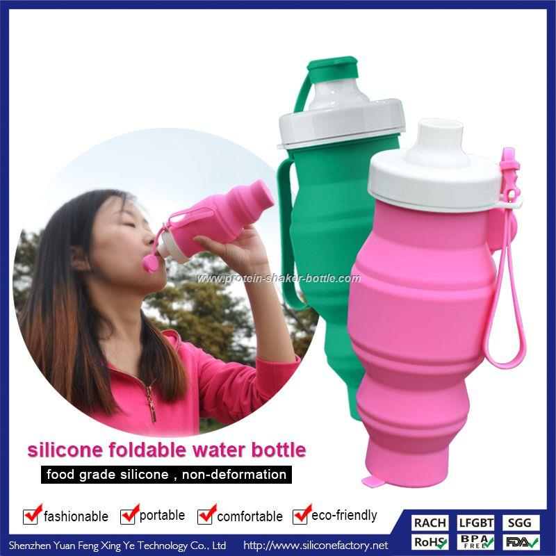silicone water bottle/silicone squeeze bottle