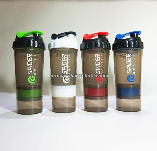 500ml Plastic PP Protein Shaker Water Bottle