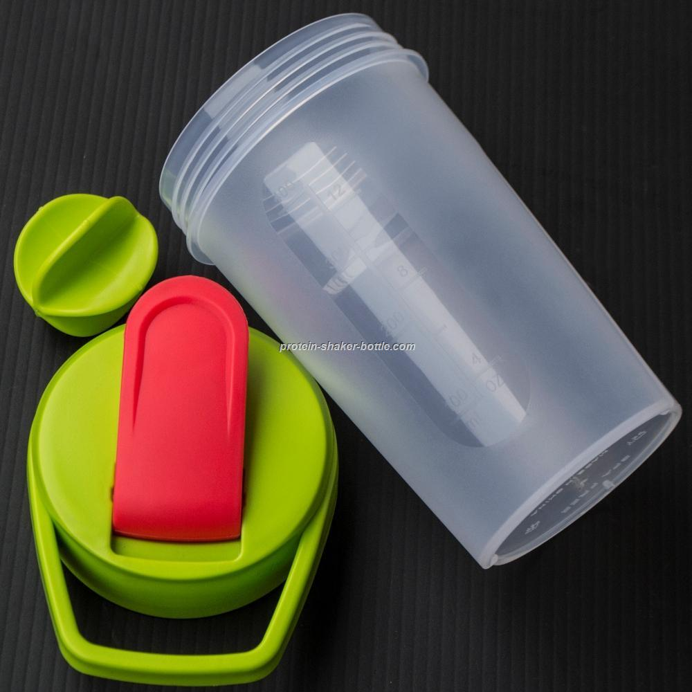 plastic shaker cup sports protein bottle