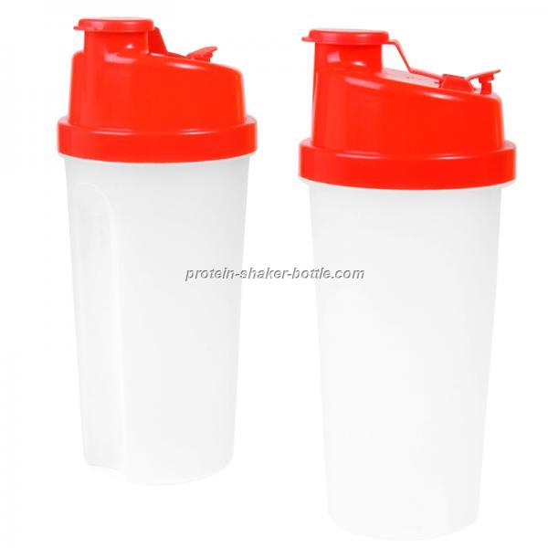 20 Oz.Plastic Fitness Shaker With Measurements