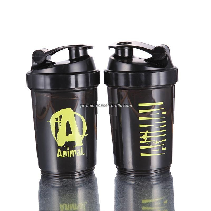 protein shaker bottle 3 in 1 bottle with inserted mixing ball