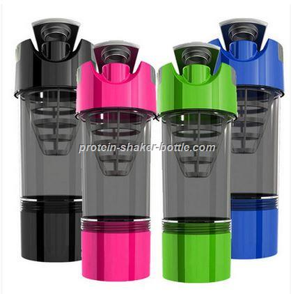 2016 New Arrival Protein Shaker Blender Mixer Cup Sports Fitness Gym Multifunction 500ml BPA free Shaker Bottle
