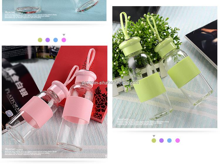 Glass Bottle with Silicone Sleeves