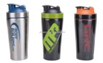 2017 stainless steel insulated shaker bottle