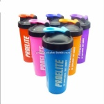 colorful cheap protein shaker plastic shaker