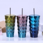 16oz stainless steel tumbler wholesale with straw cold cup coffee tumbler
