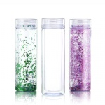 new products glitter drinking water bottle double wall plastic water bottle