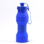 Good quality outdoor sports resistant folding silicone water bottle