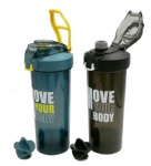 2020 new BPA free custom logo plastic gym sport shaker water bottle