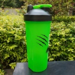600ml custom sport protein shaker gym bottle with mixer ball bpa free