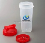 Personalized plastic shaker drinking bottle
