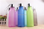 Portable Sports Frosted Plastic Water Bottle