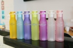 plastic sport bottle wth dull finish