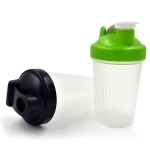 Custom brand logo 400ml 600ml protein shaker bottle