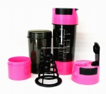 Hot 3 in 1 Protein Sports Water Pink 600ml Shaker
