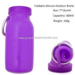 Customized Sports Foldable travel eco squeeze silicone water bottle