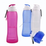 20 OZ foldable collapsible silicone water bottle