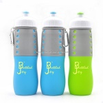 BPA Free Silicone Sport Bottle,Food Grade Silicone Squeeze Bottle