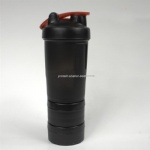16oz protein shake blender bottle with plastic screw lid wholesale
