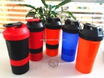 500ml and 700ml spider shaker bottle with stainless steel spring