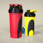color 600ml protein shaker bottle