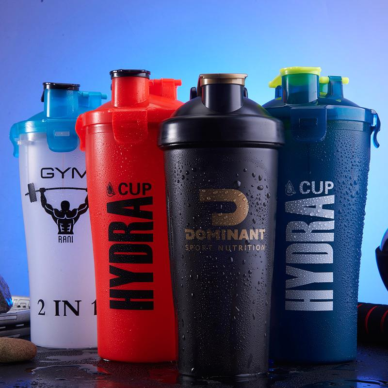 custom plastic shake bottle 700ml protein dual shaker bottle