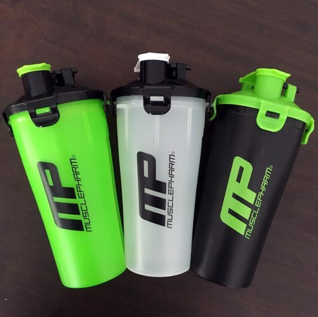 24oz Custom Logo Water Bottle Dual Shaker