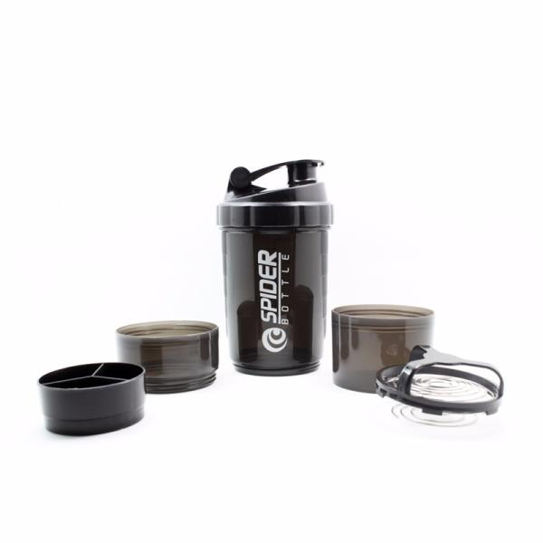 3 in 1 Protein Shaker Bottle with pill box